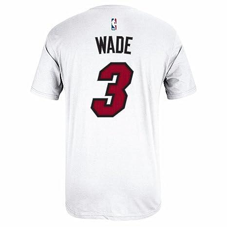 Adidas Dwyane Wade Miami Heat NBA Nombre y número Jugador Jersey Blanco de la Camiseta,