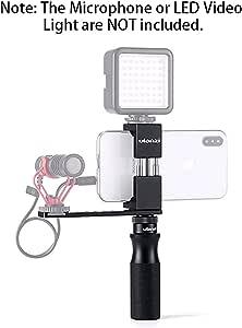 ULANZI Smartphone Video Kit Universal Phone Vlogging Setup YouTube Equipment for iPhone 11 Pro Max XS 8 Samsung Google OnePlus Phone Clip Phone Tripod LED Video Light