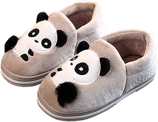 Watwass Flauschige Hausschuhe Kinder Pl/üsch Tier Kuschelig Pantoffeln Winter Unisex House Schuhe