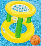 Intex - Floating Hoops 3,Incl Inflatable Pool Hoop & Basketball,Repair Patch