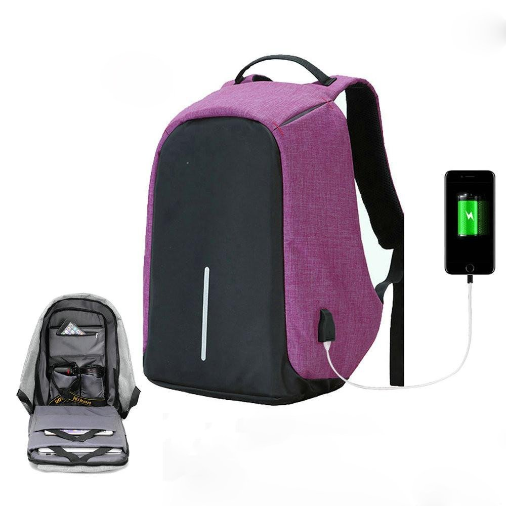 Anti-Theft Backpacks 15inch Laptop Smart Backpacks for Teenager Fashion Mochila Leisure Travel Backpack Lightweight School Bookbags with USB Charger ...