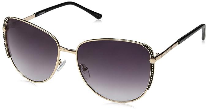 872bed360a8b Amazon.com: Steve Madden Women's Sm494114 Square Sunglasses, Black ...