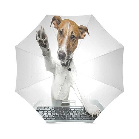 0296d4a67b1e Amazon.com : Modern Design Funny Dog Anti Rain Windproof Travel Golf ...