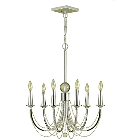 Candice olson shelby 6 x 60 watt light candle base chandelier candice olson shelby 6 x 60 watt light candle base chandelier chrome with crystal aloadofball Choice Image