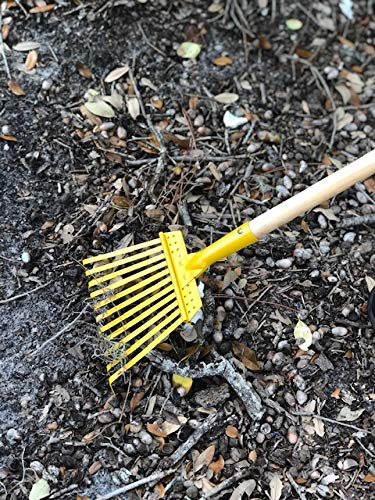 "Arcadius Garden Kids Garden Tools Set - Rake, Spade, Hoe and Leaf Rake, 4-Piece (30' x 7/8"")"