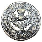 AAR Men,s Scottish Thistle Kilt Brooch Fly Plaid Antique Finish 3'' (7cm) diameter T