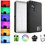 Weeylite RGB Video LED Light, CRI95+ RGB 360° Full Color 20 Light Effects, Built-in Rechargeable Battery, Aluminum Body…