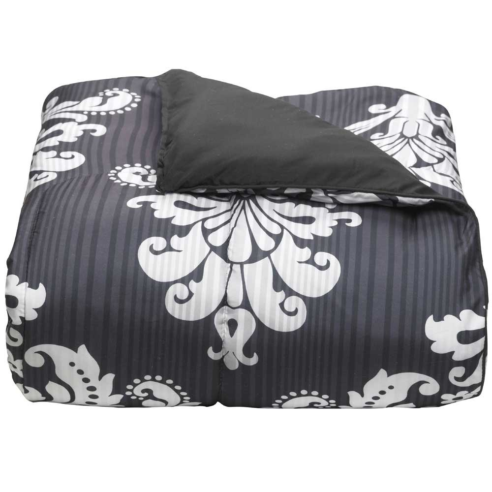 Campus Linens Victoria Damask Twin XL Comforter for College Dorm Bedding