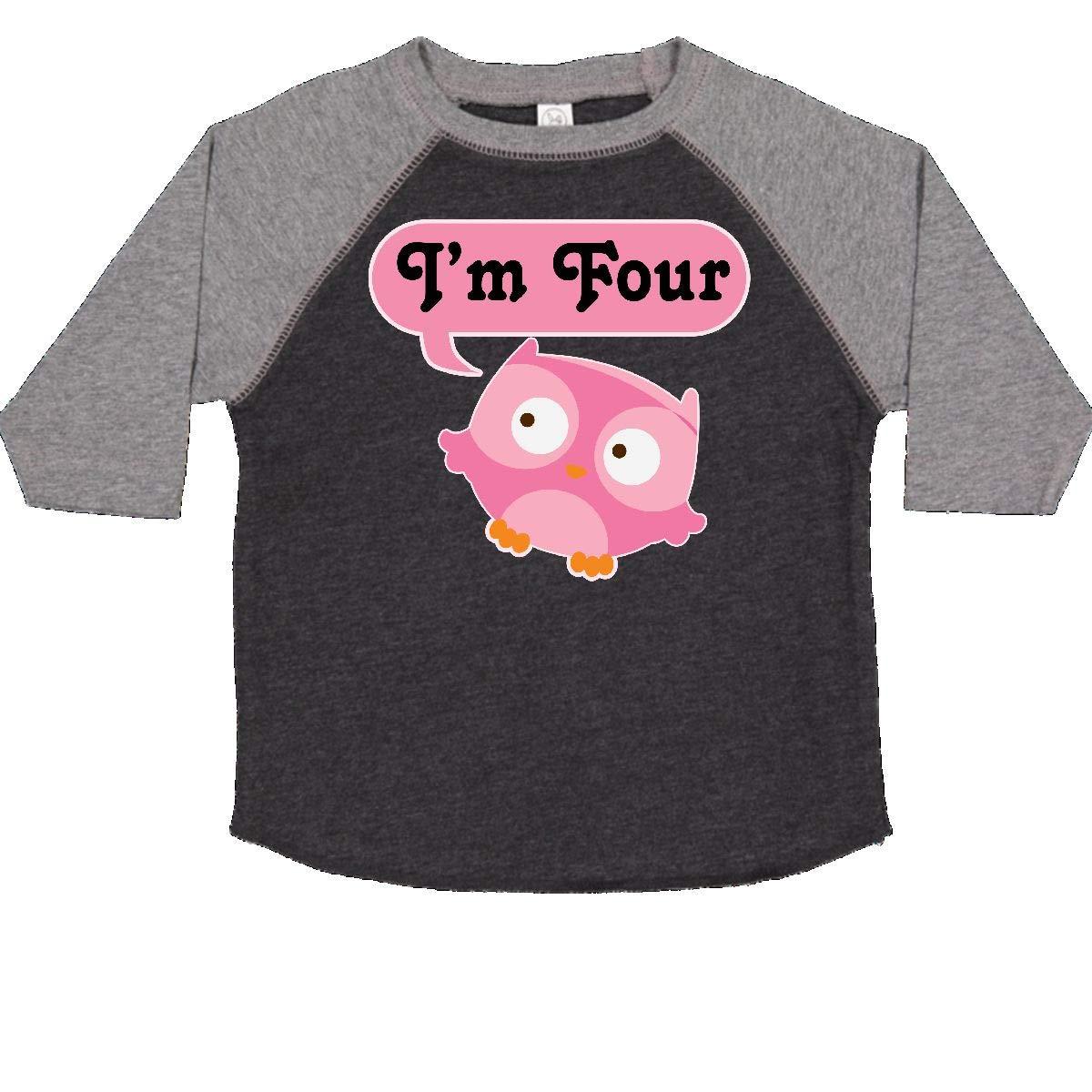 inktastic Im 4 4th Birthday Owl Toddler T-Shirt