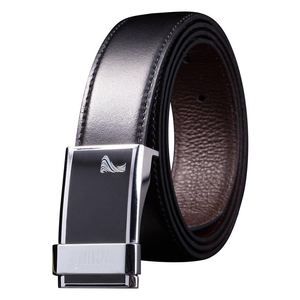 MX Business Leather Belt British Men Popular Belt Silver by MXPBJ