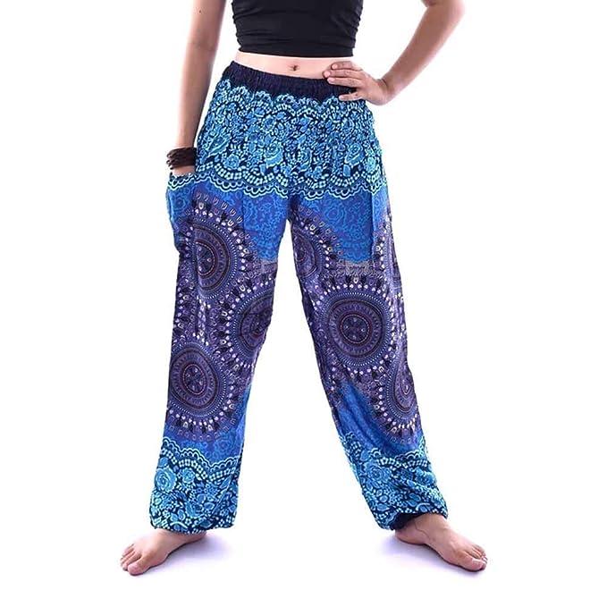 VJGOAL Unisex Moda Casual Estilo Boho Imprimir Pantalones de ...
