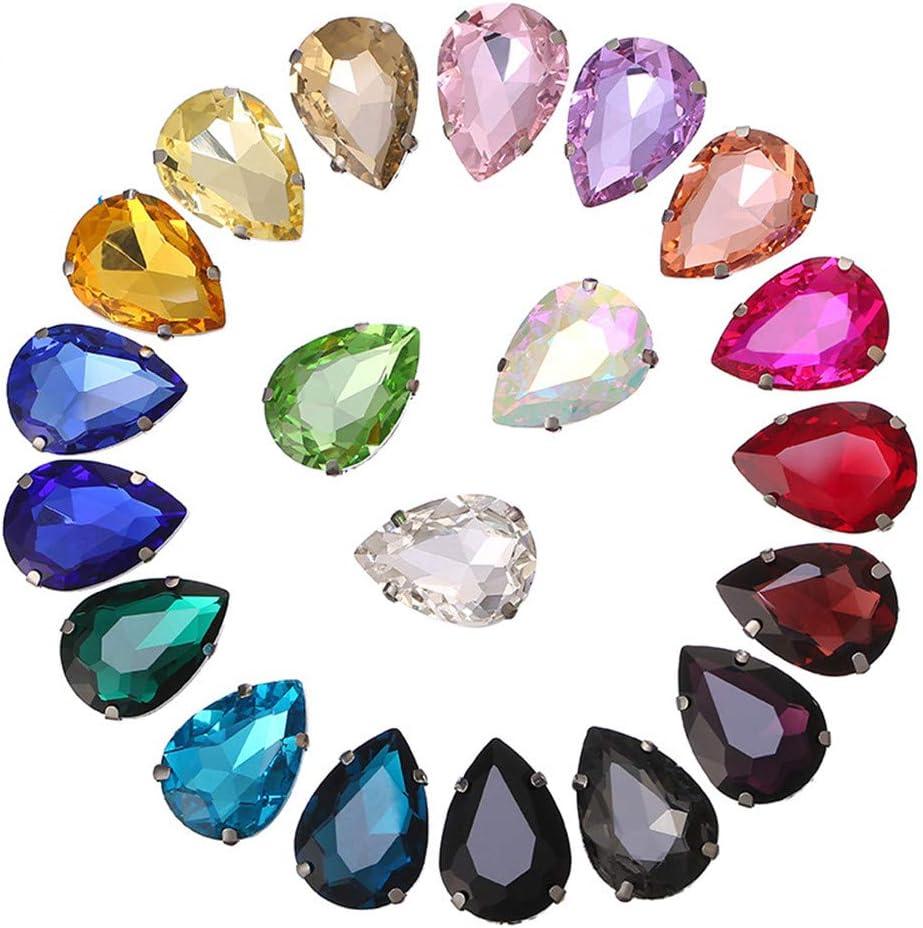 Ototon Lote de 100 Piedras Preciosas Brillantes de Resina acrílica de Colores para Coser para Accesorios de decoración de Ropa fabricación de Joyas