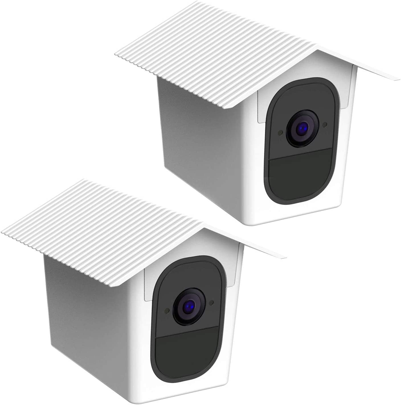 Tiuihu Wetterfeste Schutzhülle Für Arlo Pro Arlo Pro 2 Leichte Und Tragbare Arlo Kamera Abdeckung 2 Stück Weiß Baumarkt