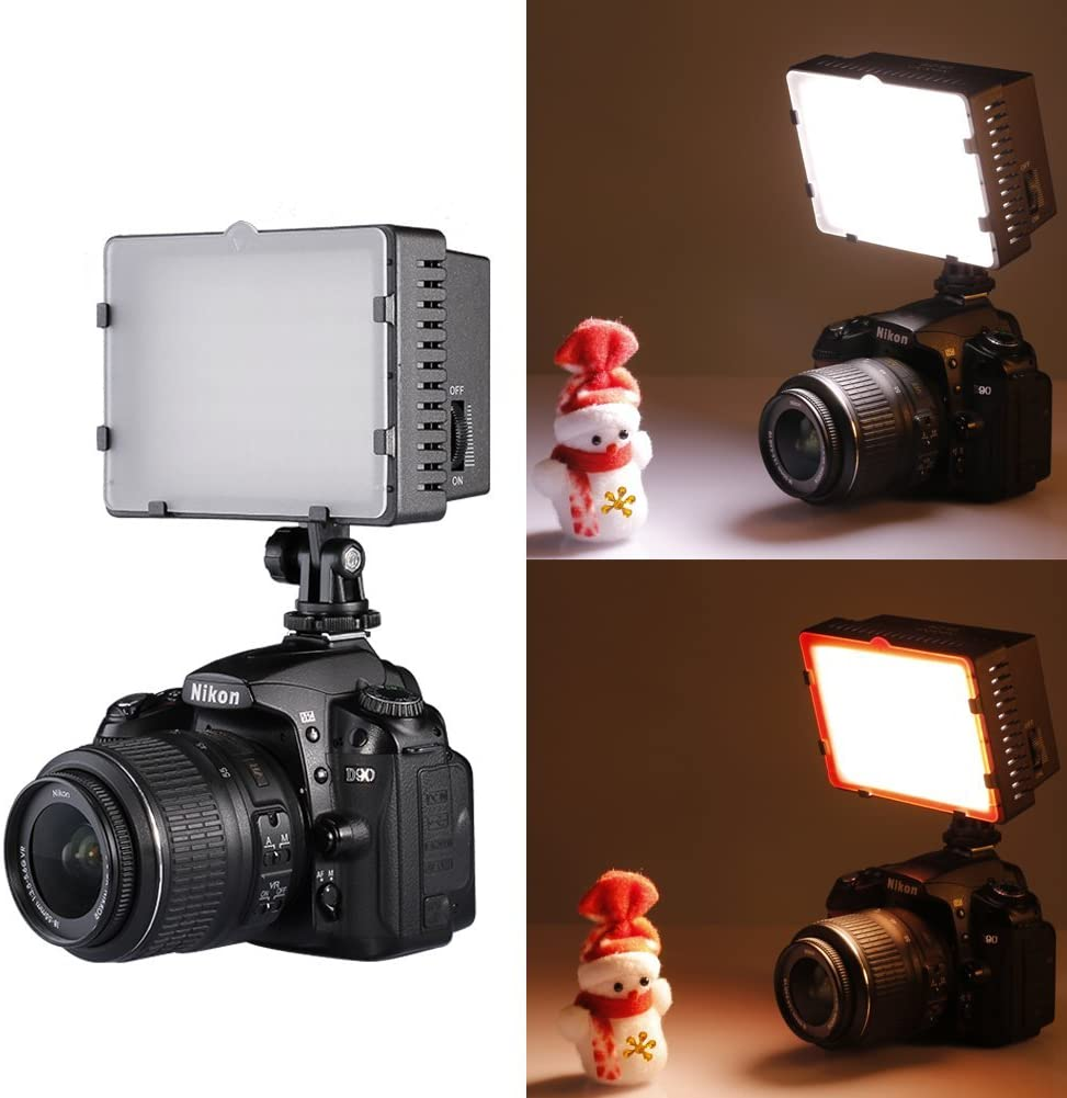 Neewer Ultra Bright Mini LED Video Light 81 Dimmable High Power LED Panel Video Light Compatible with DJI Ronin-S OSMO Mobile 2 Zhiyun WEEBILL Smooth 4 Gimbal Canon Nikon Sony DSLR Cameras etc
