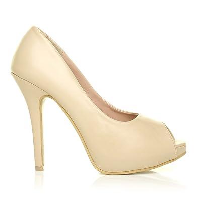 ShuWish UK Tia, Damen Pumps beige NUDE PU, beige - NUDE PU - Größe: 38/38.5 EU
