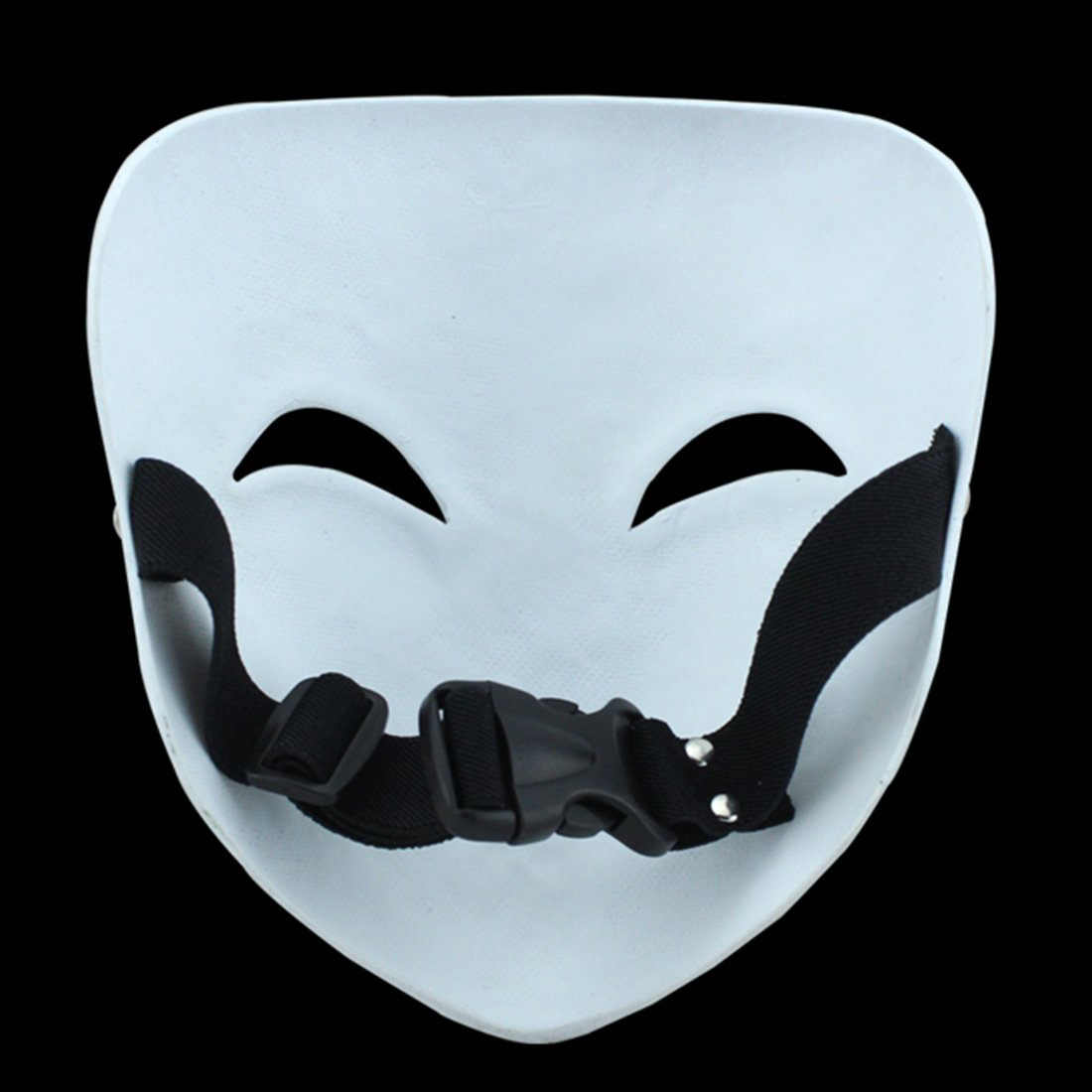 YUFENG Resin Masks Halloween Collector Props The Film Theme Black Bullets Hiruko Smiley Mask (Hiruko smile mask) by YUFENG