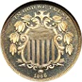 1866 P Shield Nickels (Proof) With Rays Nickel PR66 NGC DCAM