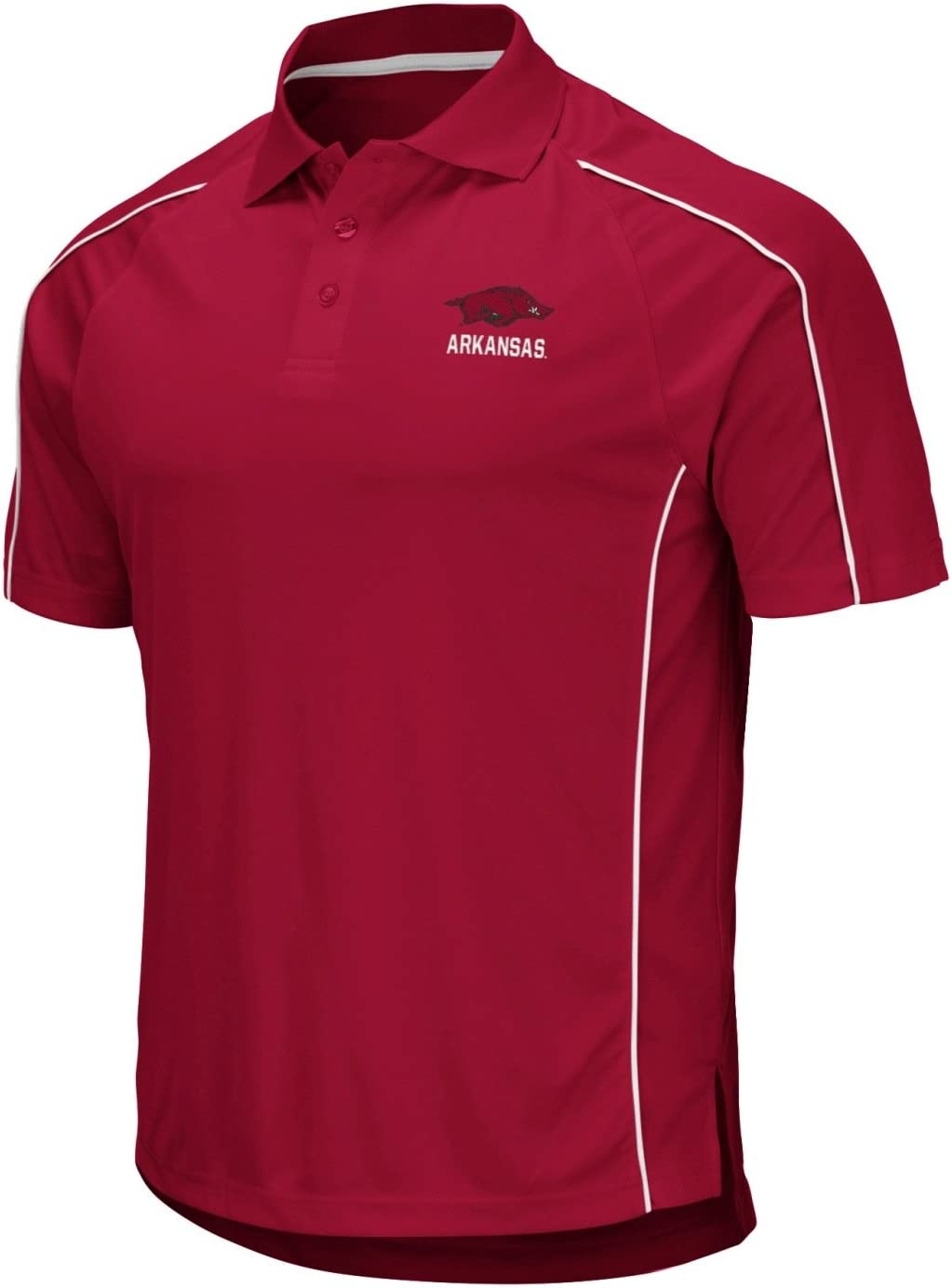 Stadium Athletics Arkansas Razorbacks NCAA Bunker Mens Performance Polo Shirt