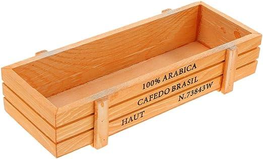 Starnearby Caja de madera vintage para jardín o escritorio, diseño ...