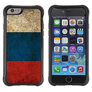 Fuerte Suave TPU GEL Caso Carcasa de Protección Funda para Apple Iphone 6 PLUS 5.5 / Business Style Russian Flag