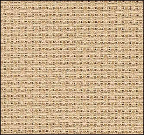 "Zweigart 16ct Aida-18x21"" Needlework Fabric - Clay"