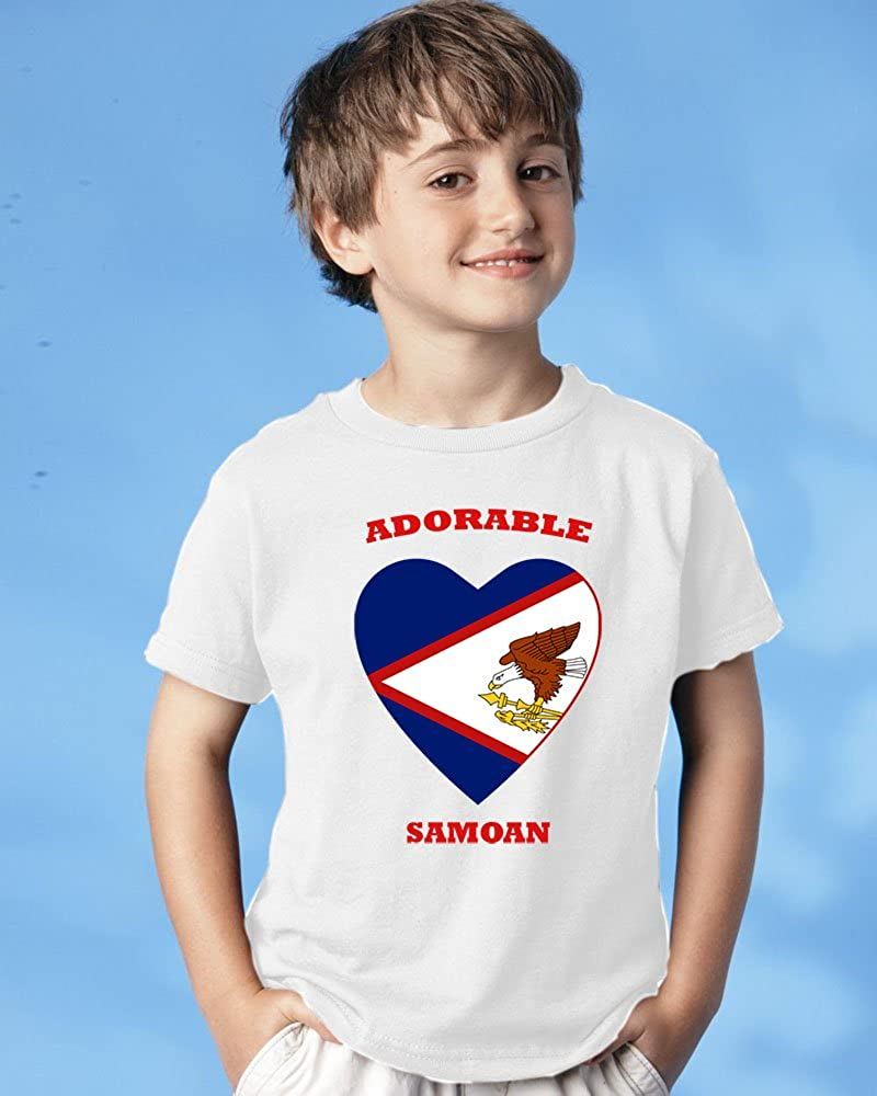 Speedy Pros Adorable Samoan American Samoa Baby Toddler Kid T-Shirt Tee 6mo Thru 7t 4t White