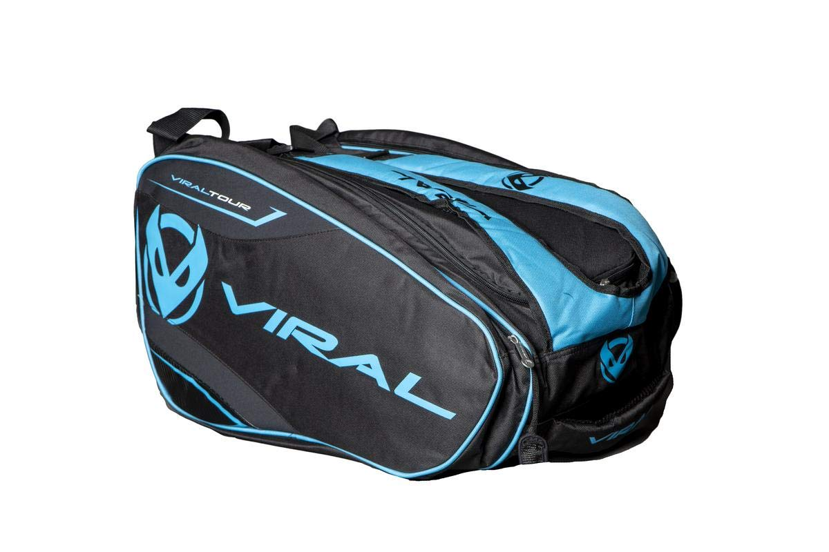 VIRAL Paletero de Padel Bag Tour Black&Red: Amazon.es: Deportes y ...