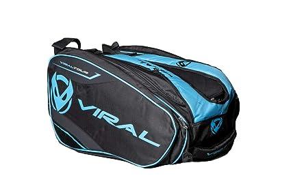 VIRAL Paletero de Padel Bag Tour Black&Blue: Amazon.es ...