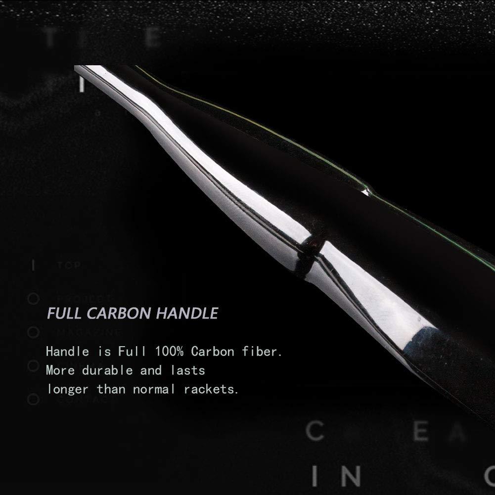 Senston N80-YT Jointless Badminton Racket Single High-Grade Badminton Racquet Carbon Fiber Badminton Racket Gold with Racket Cover and Overgrip by Senston (Image #5)