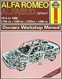 Alfa Romeo Alfasud/Sprint 1974-88 Owner's Workshop Manual (Service & repair manuals) by J. H. Haynes (1988-05-01)