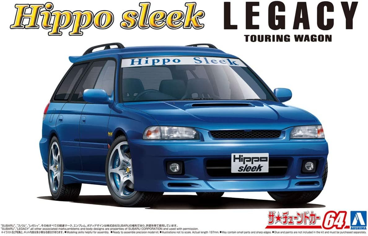 Subaru Aoshima 1//24 Scale Kit 58008 Hippo Sleek BG5 Legacy Touring Wagon 93