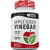 Raw Apple Cider Vinegar Capsules (1950 mg | 120 Ct) Potent Detoxifier, Weight Loss, and Metabolism Booster - USA Made