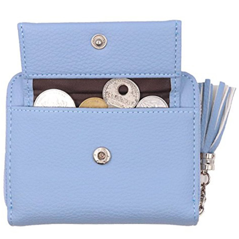Women's RFID Blocking PU Leather Wallet Card Holder Organizer Girls Small Cute Coin Purse with ID Window by Calsoling (Image #5)