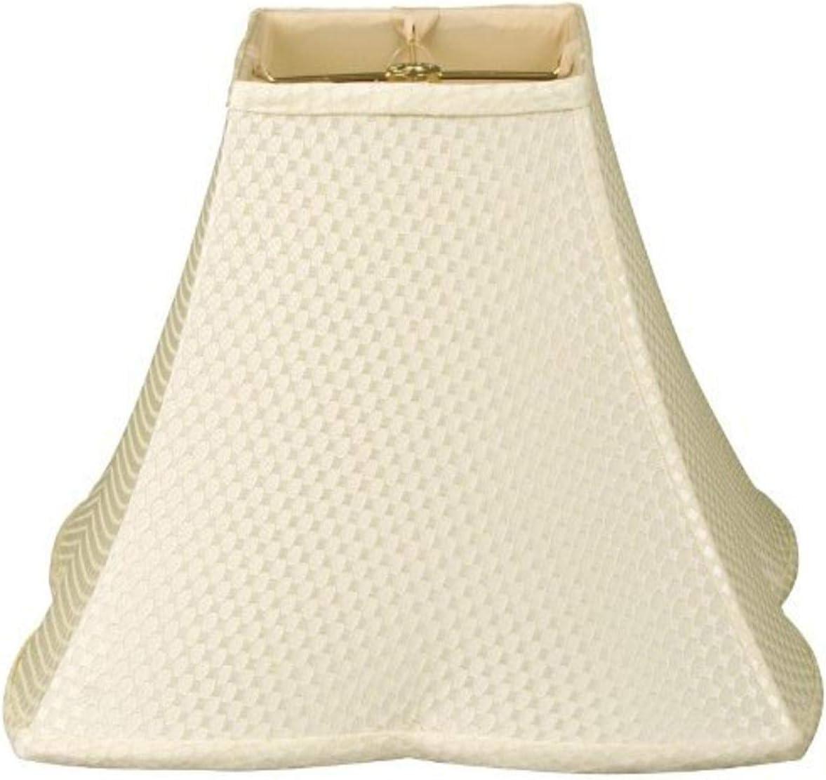 Royal Designs Square Empire Patterned Cream Designer Lamp Oklahoma City Mall Shade Popular overseas