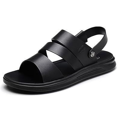 LEDLFIE Sandalen Mode Freizeitschuhe Herren StrandschuheBlack-40
