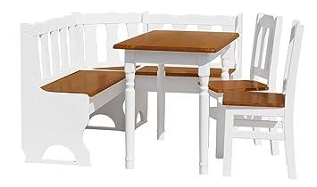 Cravog Esstisch Set, Ecke Sitzbank Mit Stauraum, Kiefer Tisch, Stuhl UK  Lager)