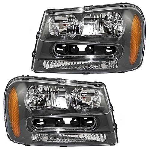 Chevrolet Trailblazer (Driver and Passenger Headlights Headlamps Replacement for Chevrolet 25970915 25970914)