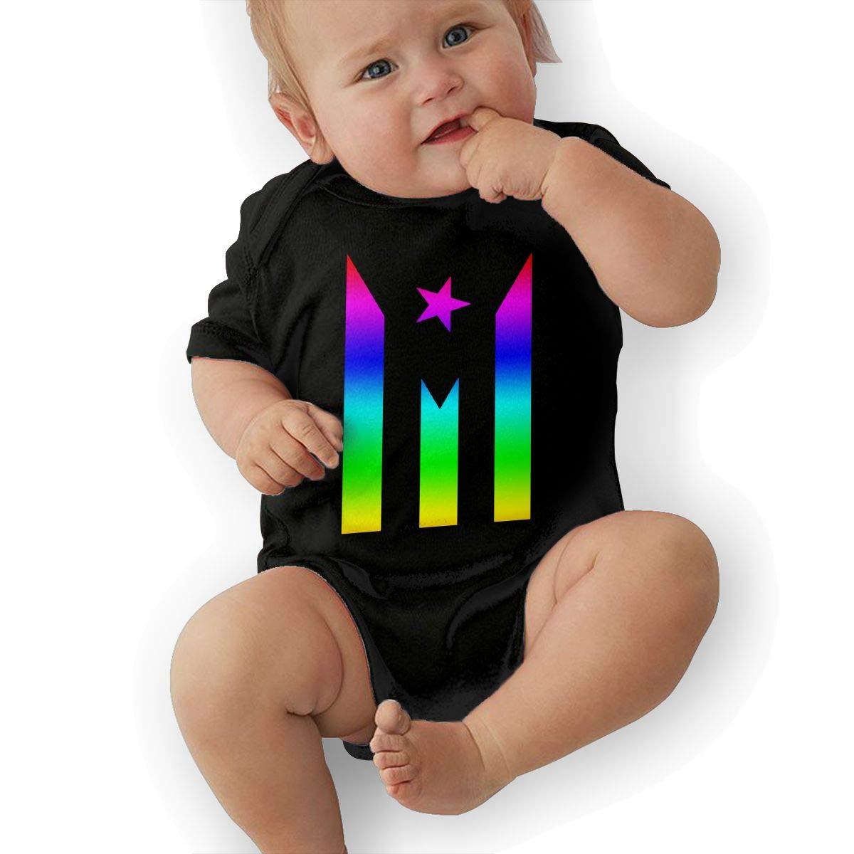 Puerto Rico Resiste Boricua Flag Se Levanta Toddler Baby Girl Boy Bodysuit Jumpsuit Short Sleeved Bodysuit Tops Clothes