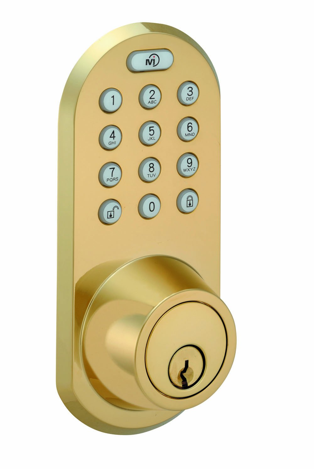 MORNING INDUSTRY INC QF-01P 3-In-1 Remote Control & Touchpad Dead Bolt, Polished Brass