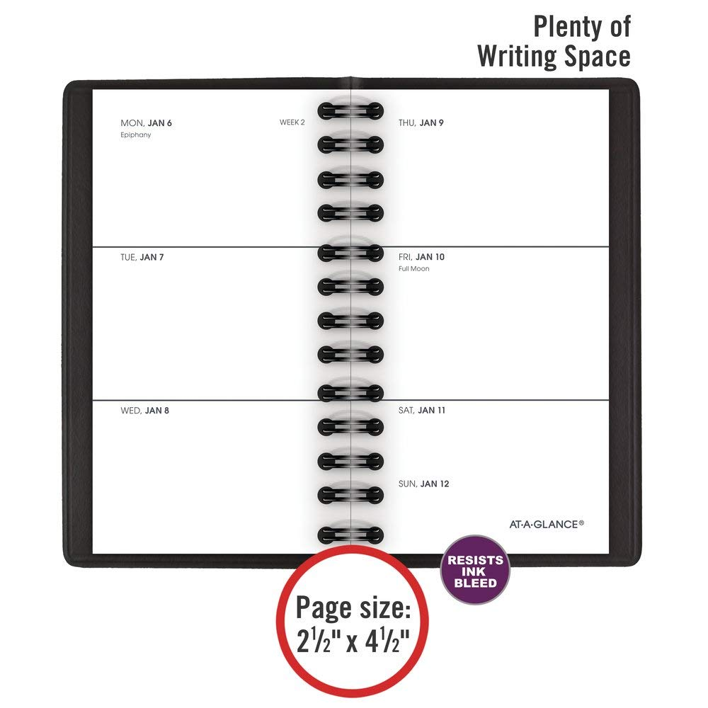 AT-A-GLANCE 2020 Weekly Pocket Planner, 2-1/2