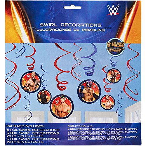 WWE Hanging Party Decorations, Party Supplies -