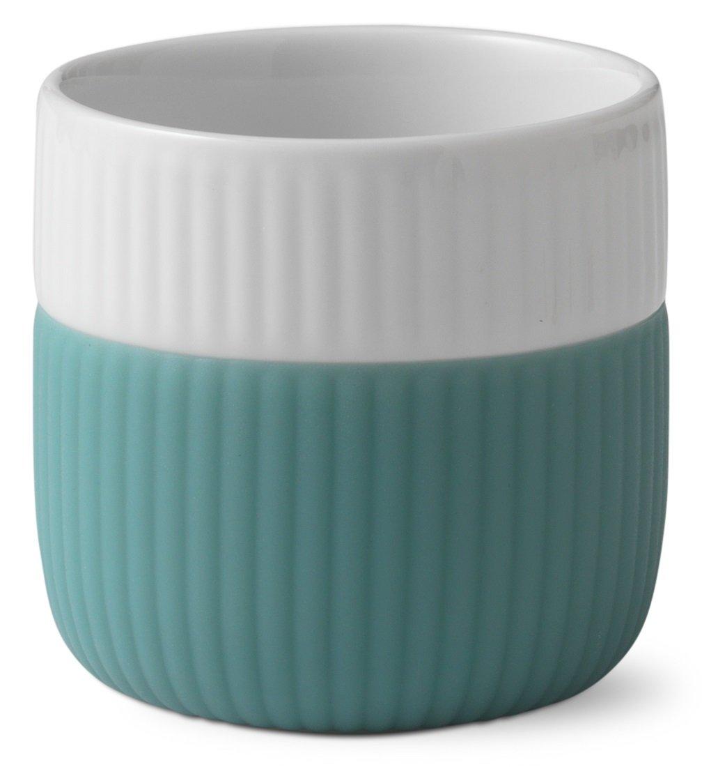colore: verde Tazzine per caff/è espresso capacit/à 8 cl Royal Copenhagen con bordo in contrasto