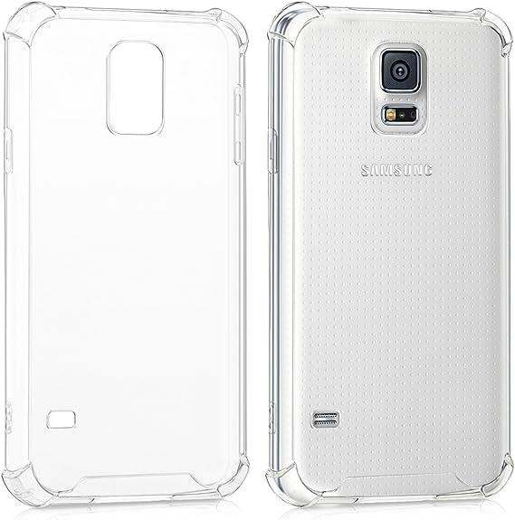 kwmobile 1x Funda Transparente Compatible con Samsung Galaxy S5 / S5 Neo Carcasa de Silicona TPU con protección en Las Esquinas: Amazon.es: Electrónica