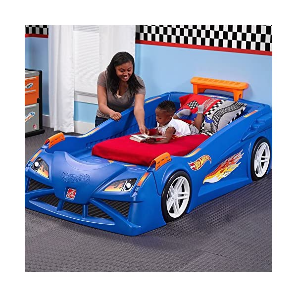 Step2 Hot Wheels Toddler to Twin Bed with Lights Vehicle 2