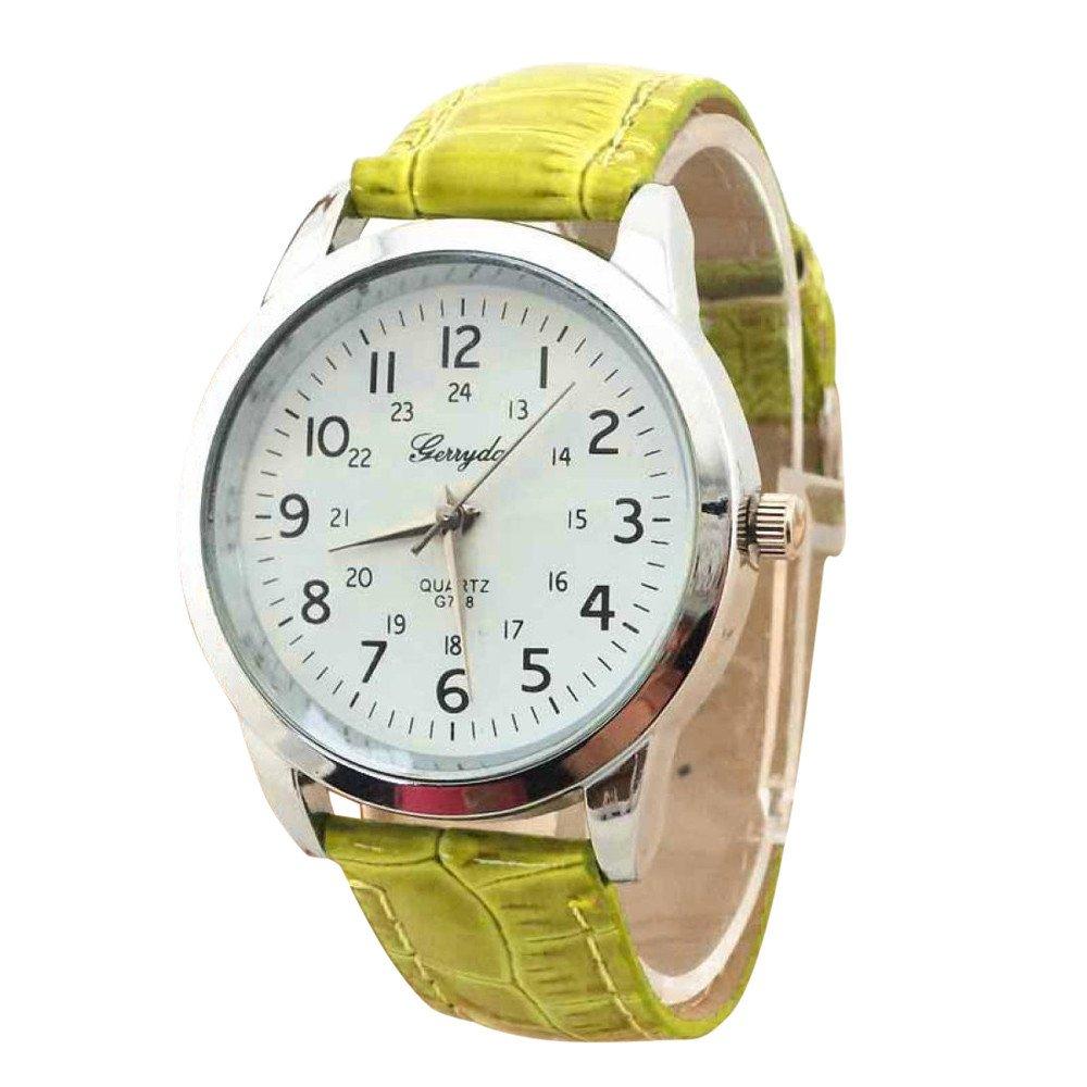 Elegant Analog Luxury Sports Leather Strap Quartz Mens Wrist Watch Gn