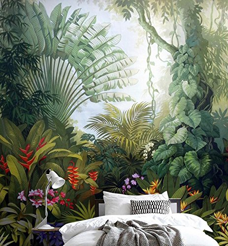 Custom Wallpaper Home Decor Murales Medieval Tropical Rain