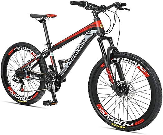 NENGGE Niño Bicicleta Montaña, 24 Velocidades Doble Freno Disco ...