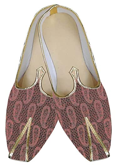 Mens Pink Indian Wedding Shoes MJ0091