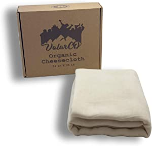 Organic Cheesecloth for Straining Reusable Unbleached - Butter Muslin Cloth, Cheesecloth for Cooking, Celery Juice, Nut Milk Straining, Cold Brew Coffee Filter Tea Bag - 15 sqft