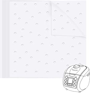 Air Fryer Parchment Liners, 100pcs 11x12Inch Square Air Fryer Paper Perforated Parchment Liner Steaming Paper for Air Fryer Oven, Steaming Basket and More(5.5/6.5/7.5/8.5/9.5inch Available)